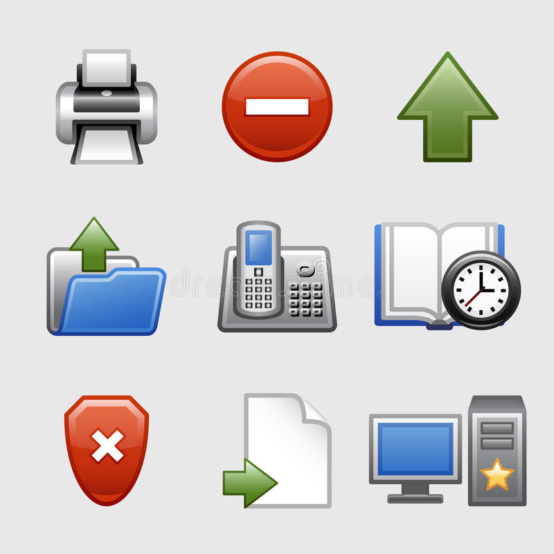 Iconos estilizados del Web, conjunto 04 ilustración del vector