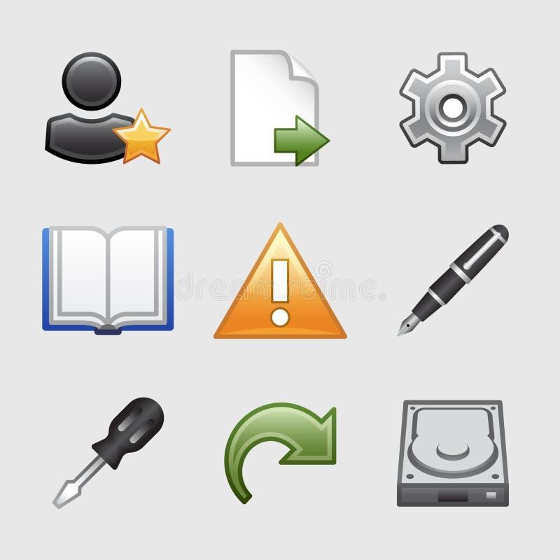 Iconos estilizados del Web, conjunto 07 stock de ilustración