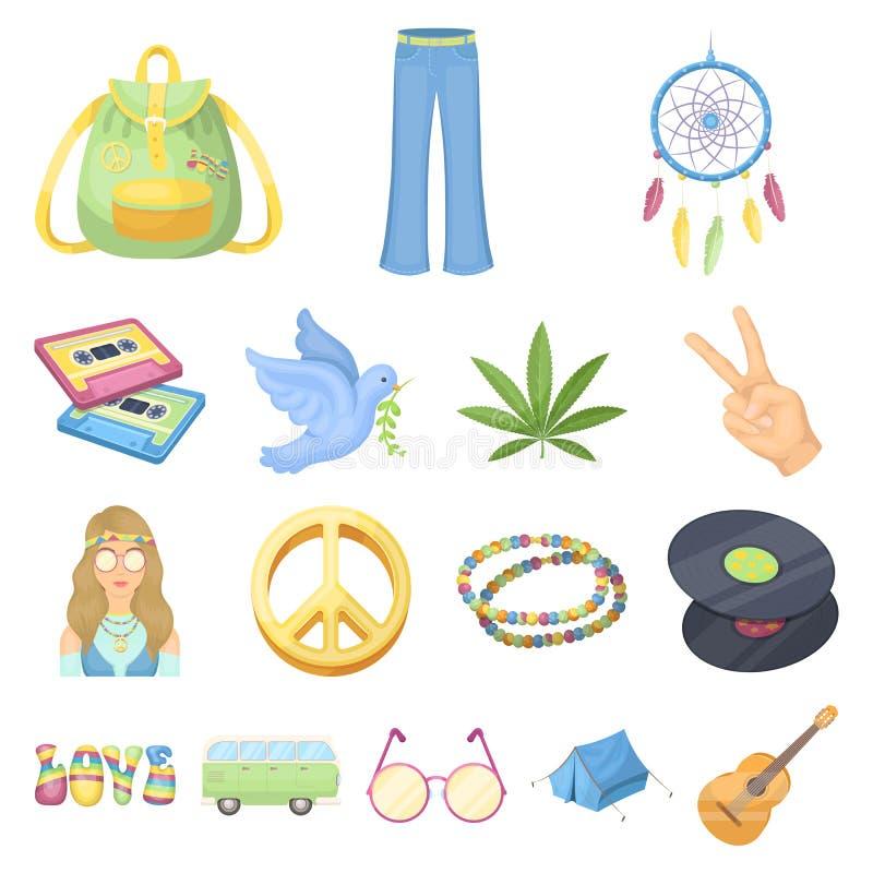 Iconos felices y de la cualidad de la historieta en la colección del sistema para el diseño Web feliz y de los accesorios del vec stock de ilustración