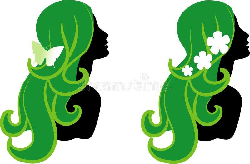 Download Iconos femeninos ilustración del vector. Imagen de cuidado - 8141531