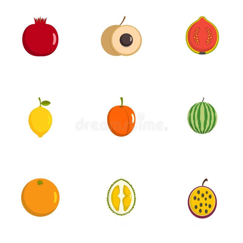 Iconos fetales fijados, estilo plano ilustración del vector