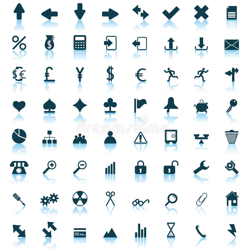 Iconos fijados stock de ilustración