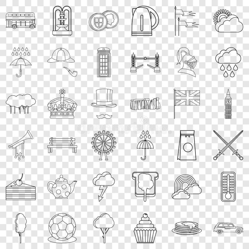 Iconos fijados, estilo de la corona del esquema libre illustration