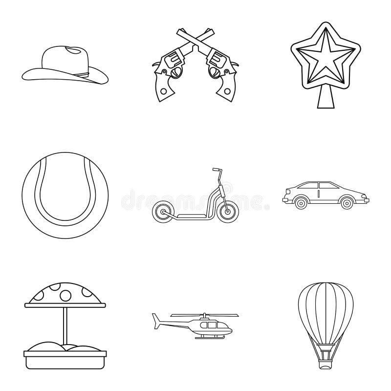 Iconos fijados, estilo del adolescente de los deportes del esquema libre illustration