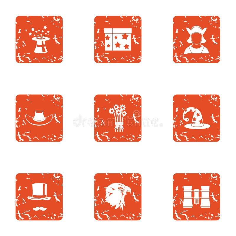 Iconos fijados, estilo del encanto del grunge ilustración del vector