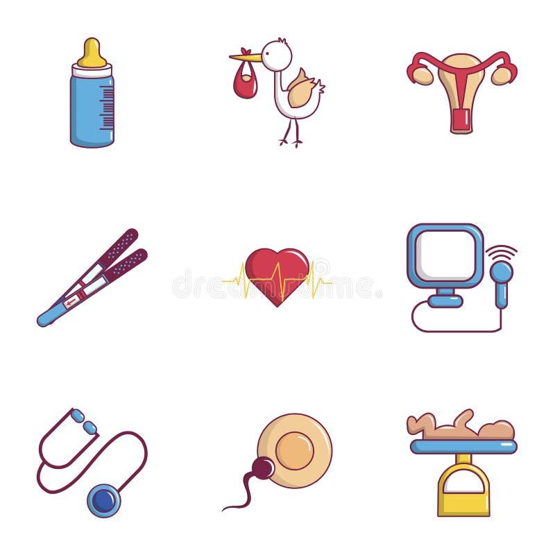 Iconos fijados, estilo plano de la salud del bebé libre illustration