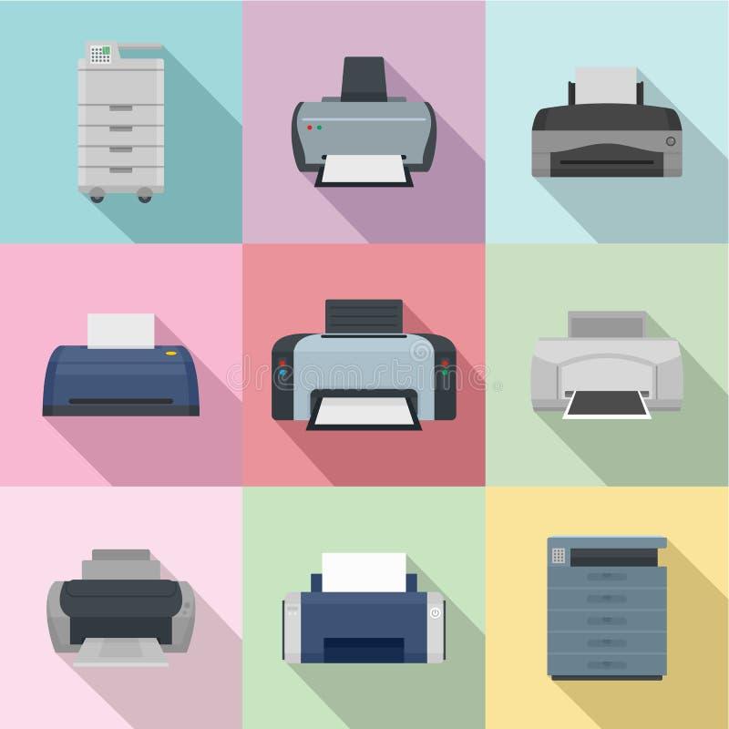 Iconos fijados, estilo plano del periodismo stock de ilustración