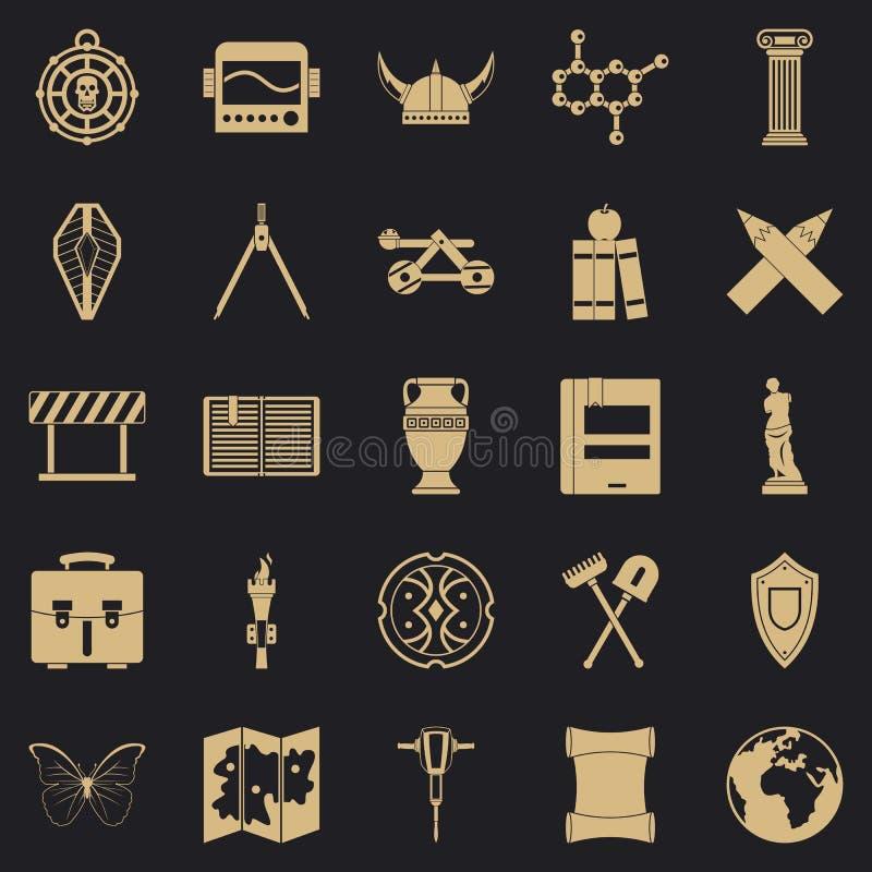 Iconos fijados, estilo simple de la arqueología libre illustration