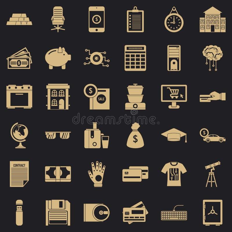 Iconos fijados, estilo simple de la factura libre illustration