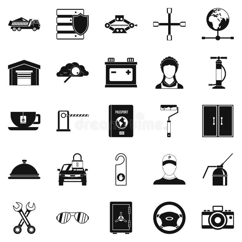 Iconos fijados, estilo simple de la llave ajustable libre illustration