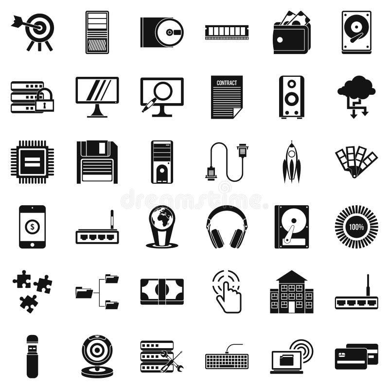 Iconos fijados, estilo simple de la operación del web libre illustration