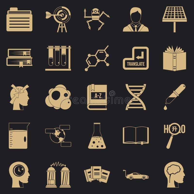 Iconos fijados, estilo simple de las concesiones ilustración del vector