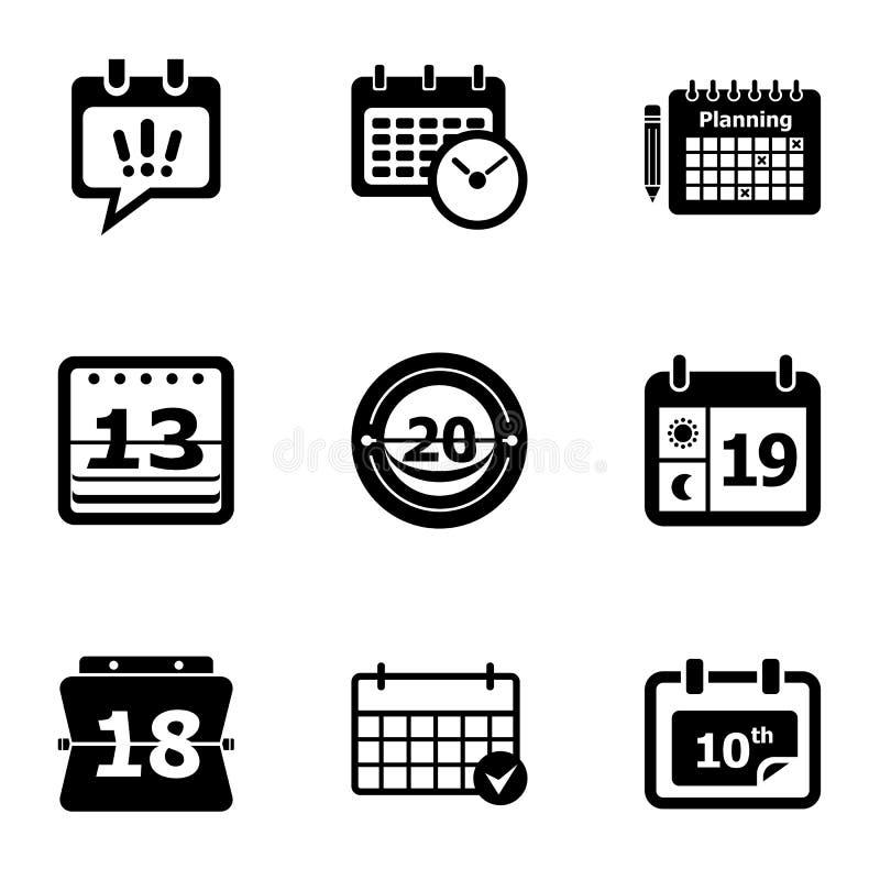 Iconos fijados, estilo simple del anuario stock de ilustración