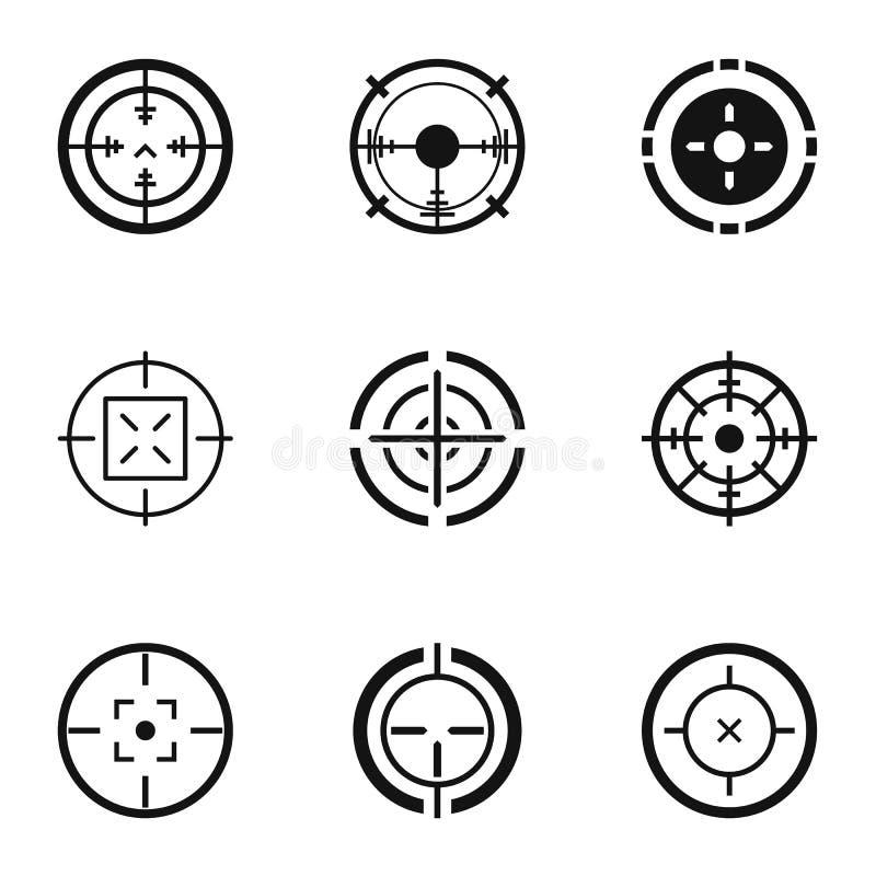 Iconos fijados, estilo simple del extremo ilustración del vector