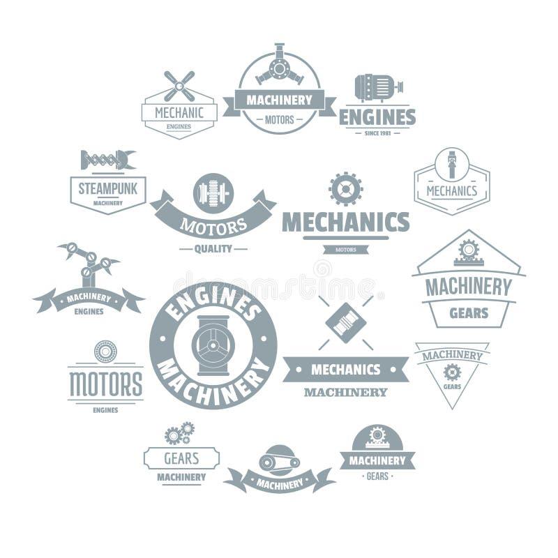Iconos fijados, estilo simple del logotipo de los mecánicos libre illustration