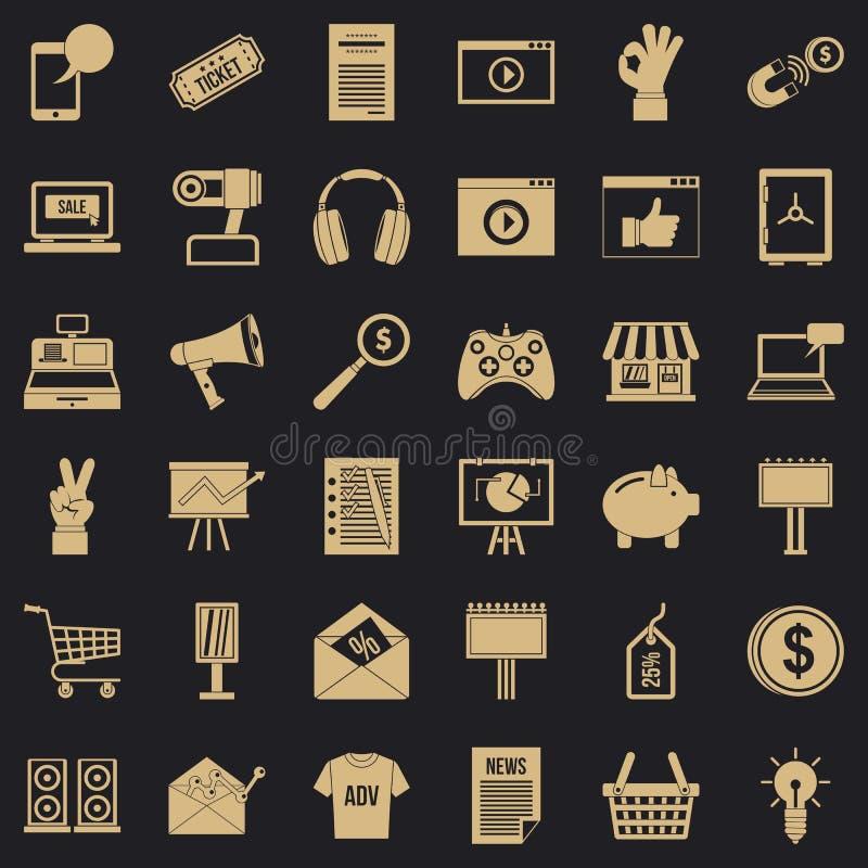 Iconos fijados, estilo simple del m?rketing de Internet libre illustration