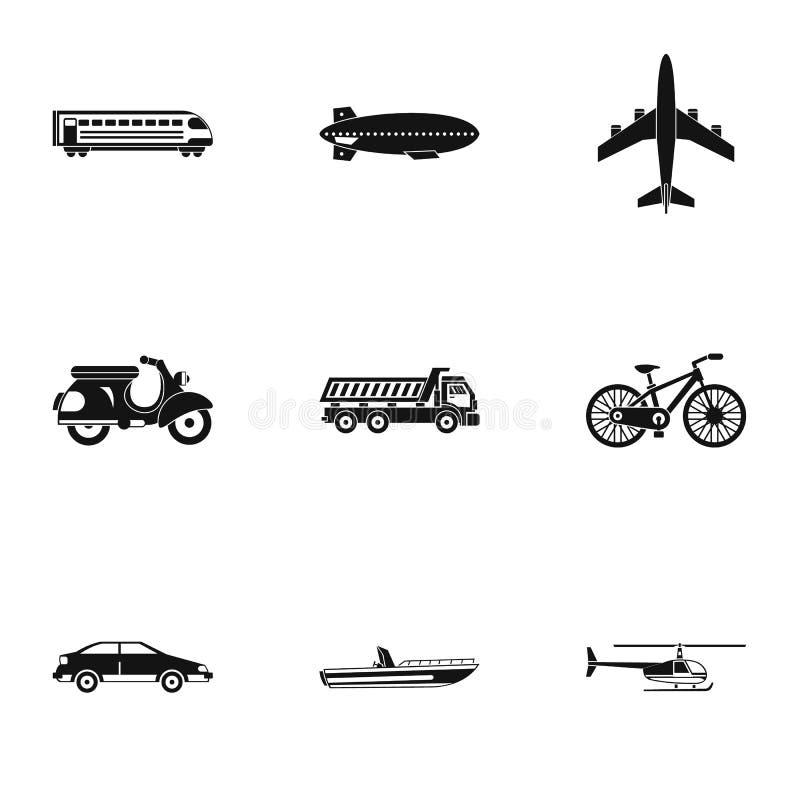 Iconos fijados, estilo simple del movimiento stock de ilustración