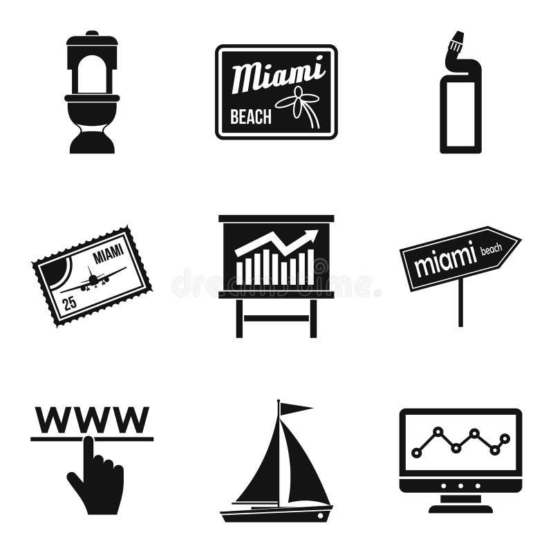 Iconos fijados, estilo simple del portero libre illustration