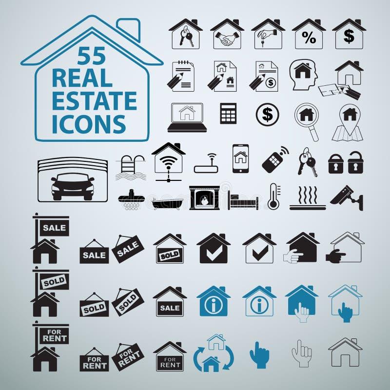 Iconos fijados, muestras de Real Estate del negocio del vector libre illustration
