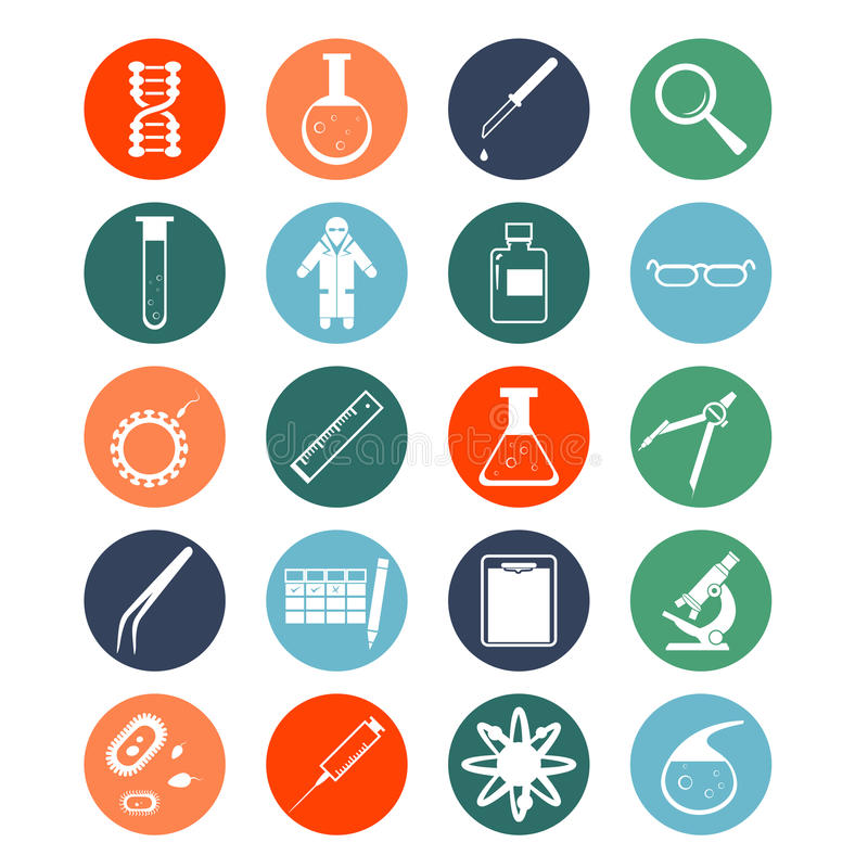 Iconos genéticos stock de ilustración
