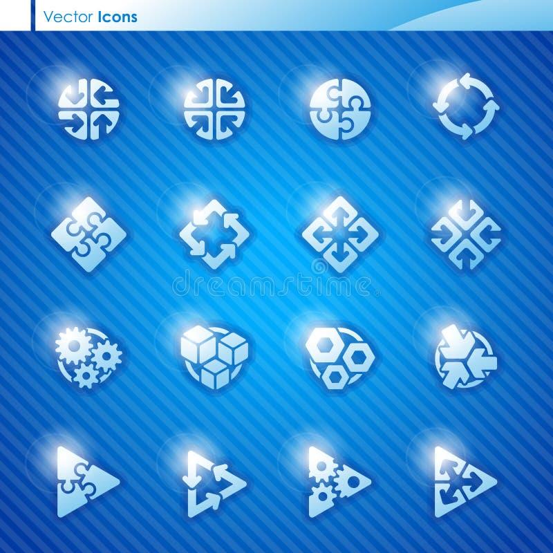 Iconos geométricos abstractos. Modelo s de la insignia del vector stock de ilustración