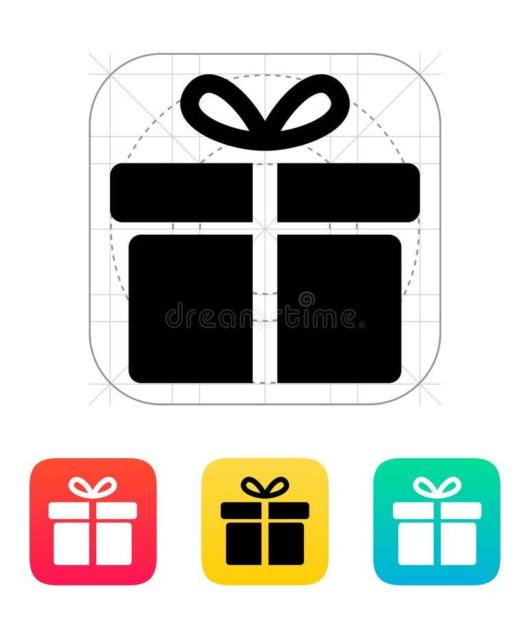 Iconos grandes de la caja de regalo en el fondo blanco. libre illustration
