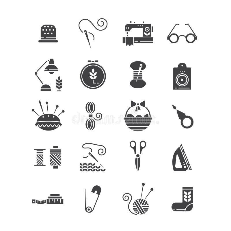 Iconos hechos a mano del vector fijados libre illustration