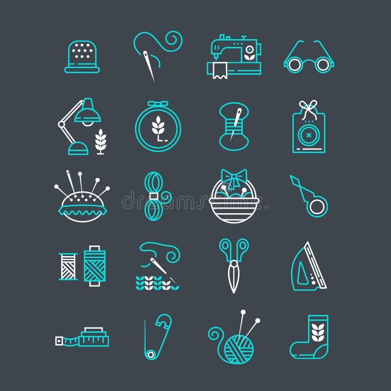Iconos hechos a mano del vector fijados ilustración del vector