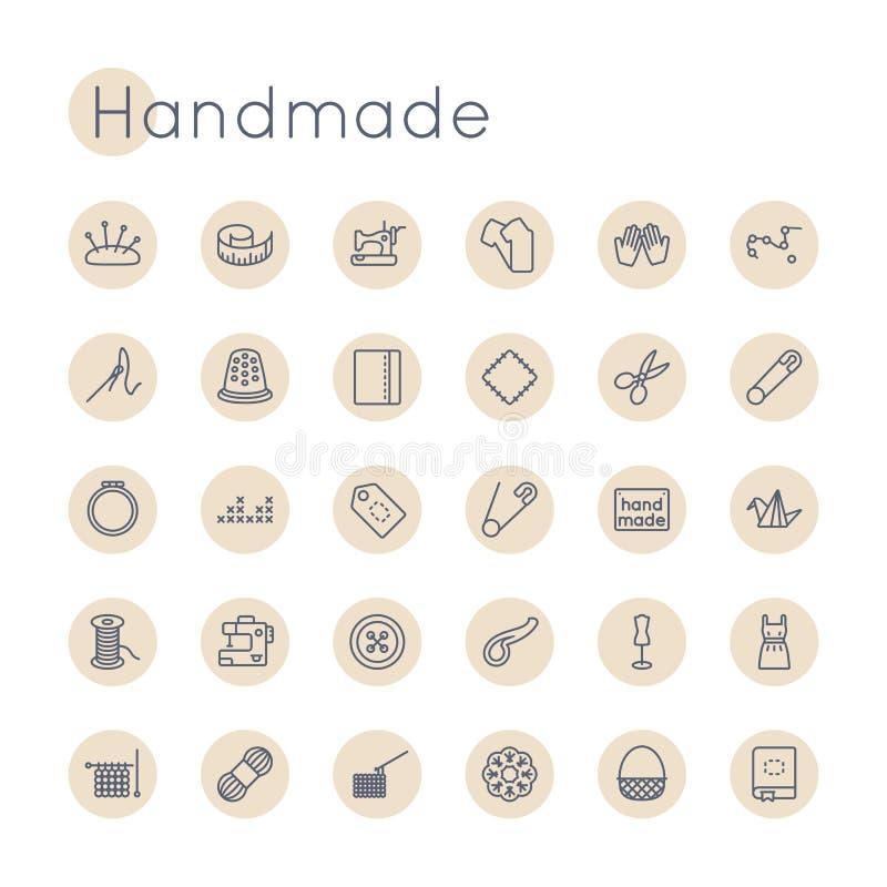 Iconos hechos a mano redondos del vector ilustración del vector