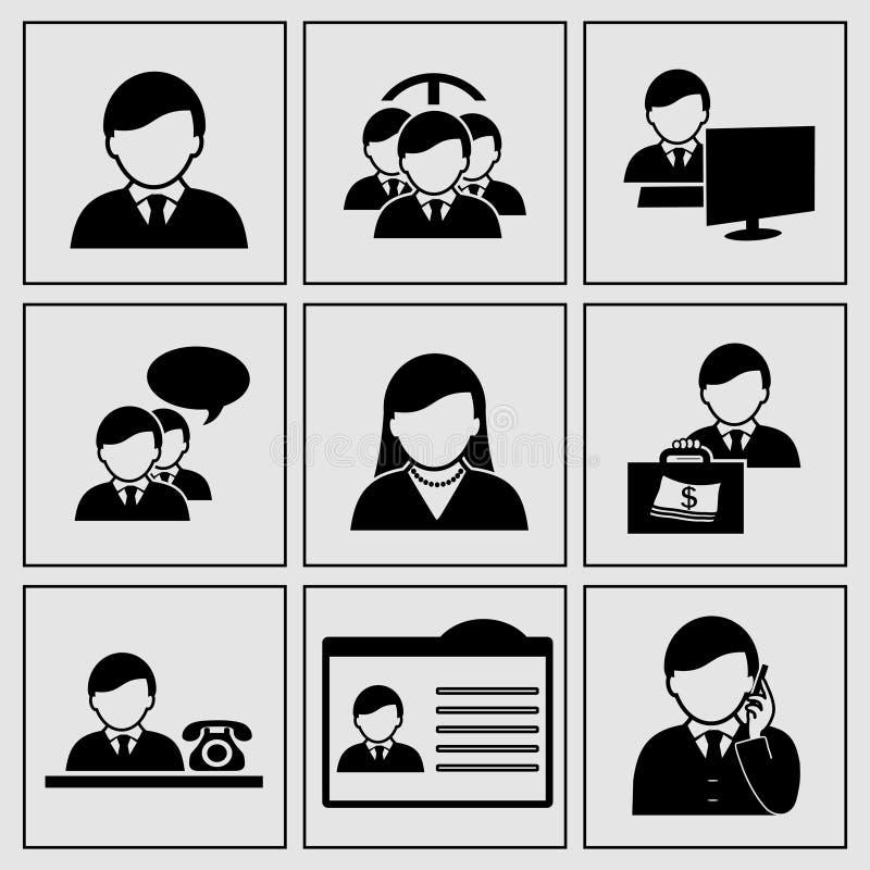 Iconos humanos - hombre de negocios, comunidad, red social ilustración del vector