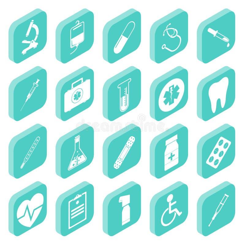 Iconos isométricos médicos libre illustration