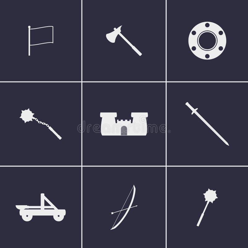 Iconos Jousting stock de ilustración