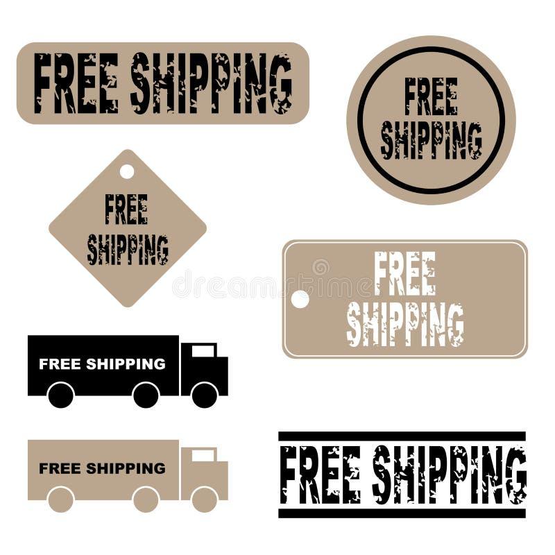 Iconos libres del envío ilustración del vector