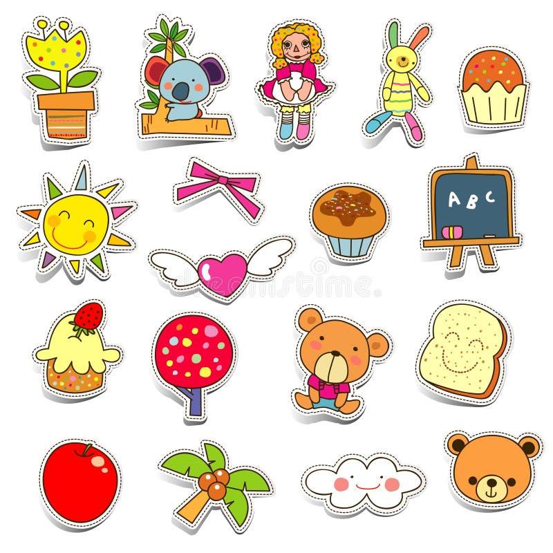 Download Iconos lindos ilustración del vector. Ilustración de colorido - 64209698