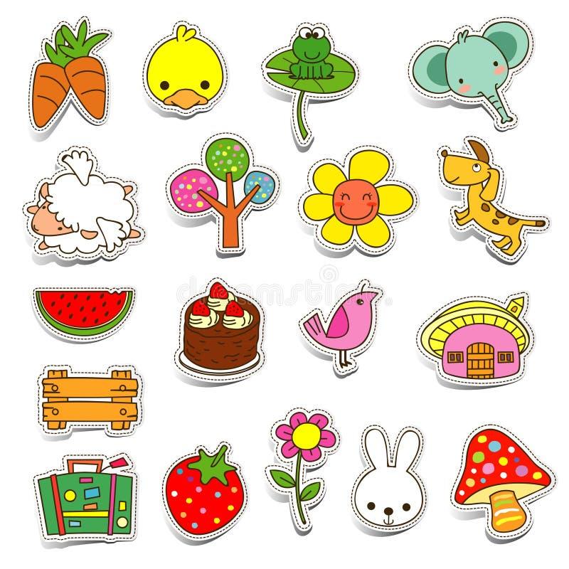 Download Iconos lindos ilustración del vector. Ilustración de corazones - 64209752