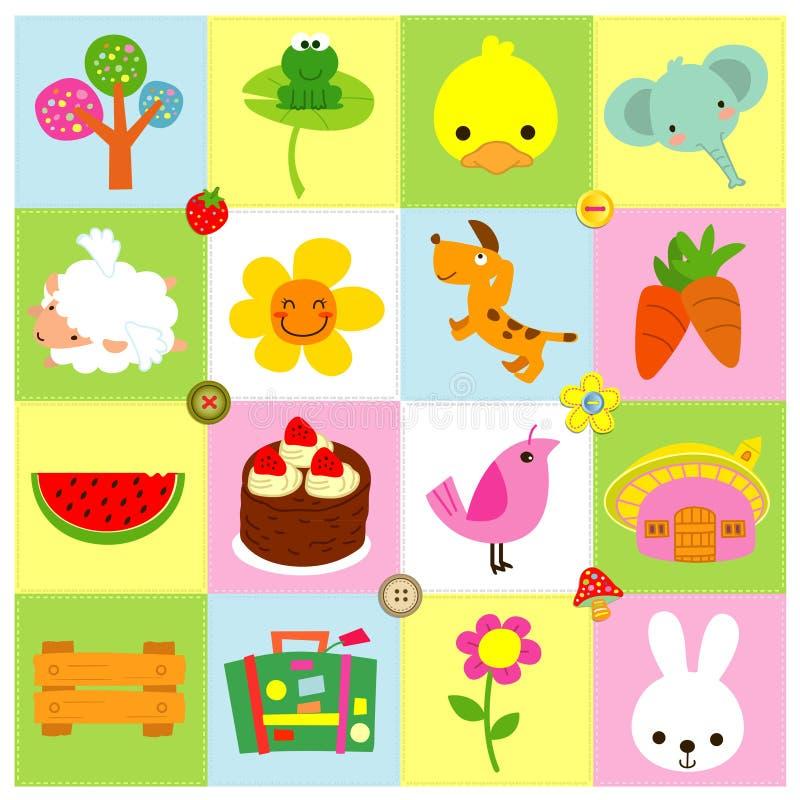 Download Iconos lindos ilustración del vector. Ilustración de polluelo - 64209855