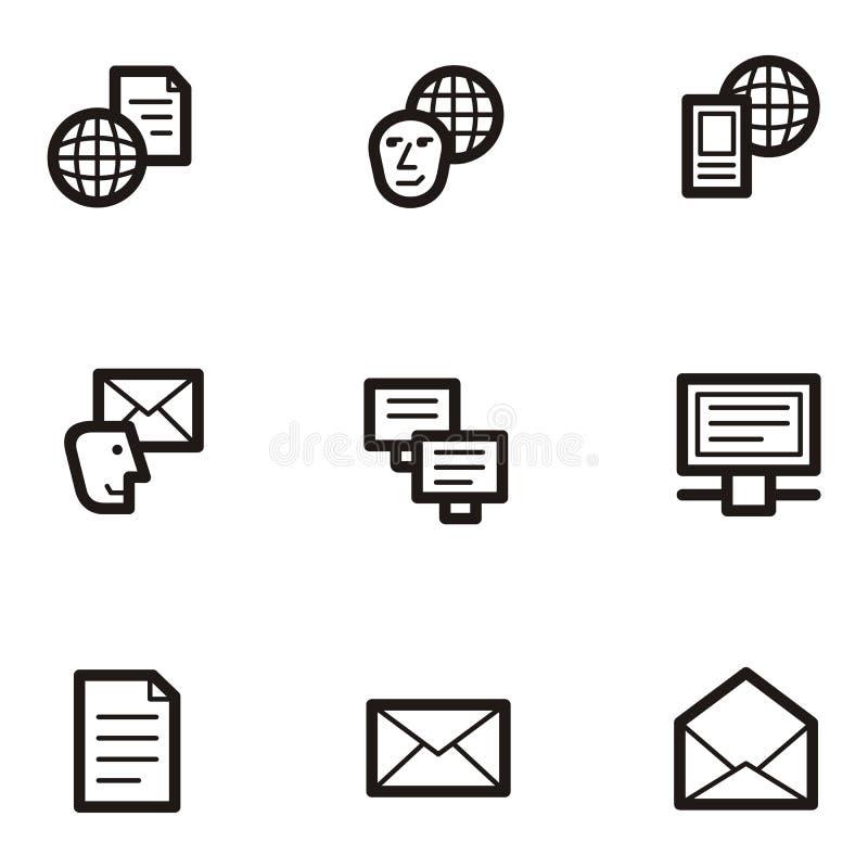 Iconos llanos - comunicaciones libre illustration