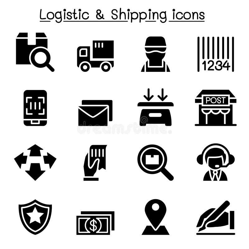 Iconos logísticos, de la entrega y del envío ilustración del vector