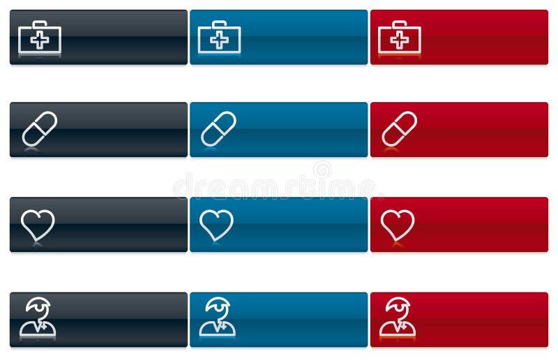 Iconos médicos 1 (vector) stock de ilustración