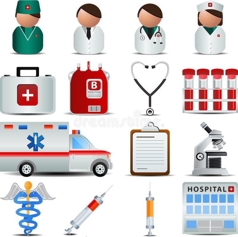 Iconos médicos stock de ilustración
