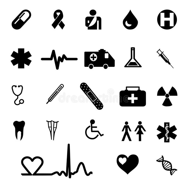 Iconos médicos fijados libre illustration