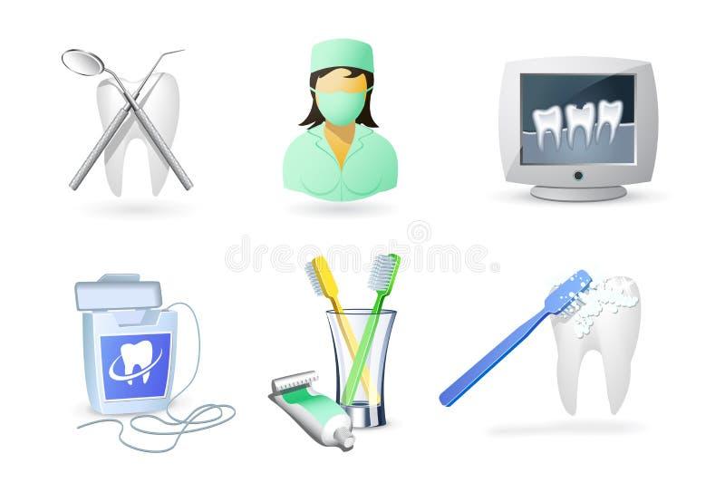 Iconos médicos   Odontología stock de ilustración