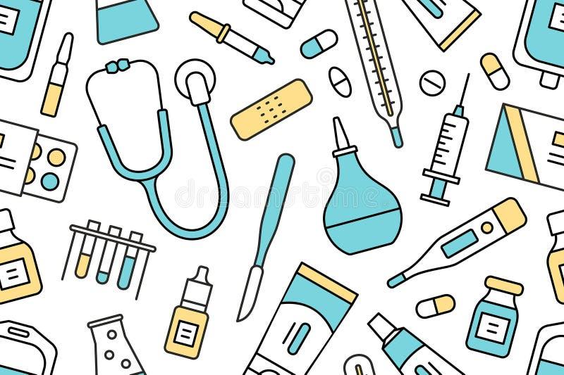 Iconos médicos y del cuidado médico imagenes de archivo