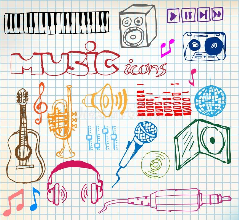 Iconos a mano de la música
