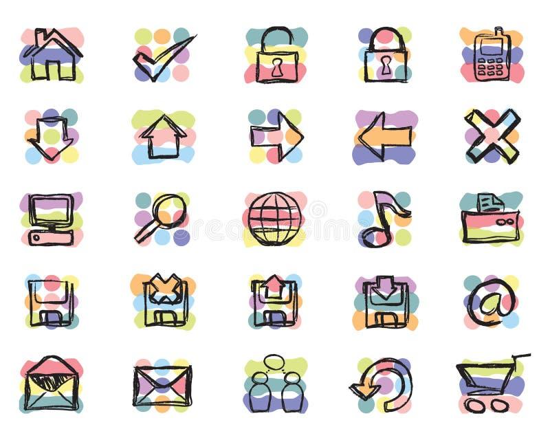 Iconos a mano (vector) ilustración del vector