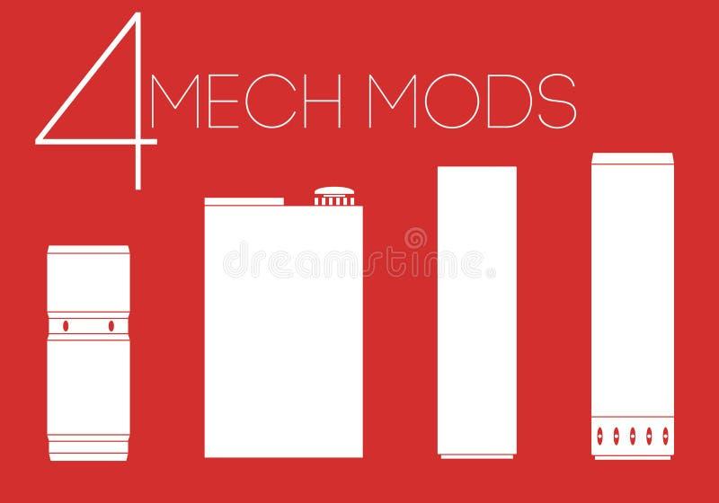 4 iconos mecánicos de los mods fijados libre illustration