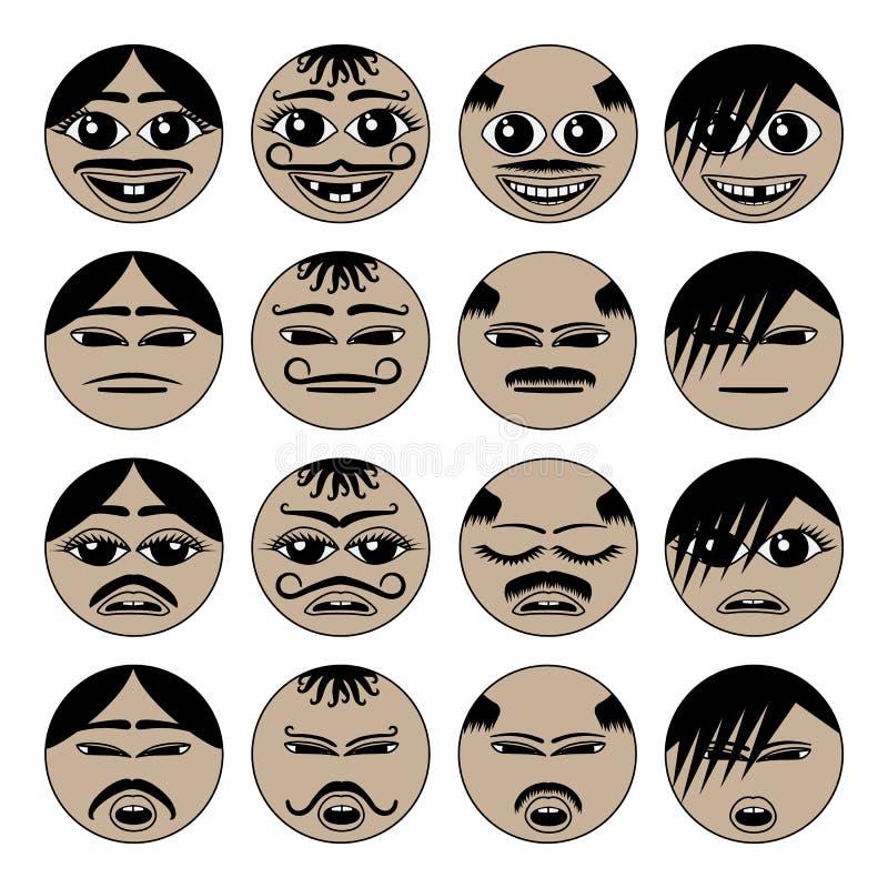 Iconos migratorios del emoji libre illustration