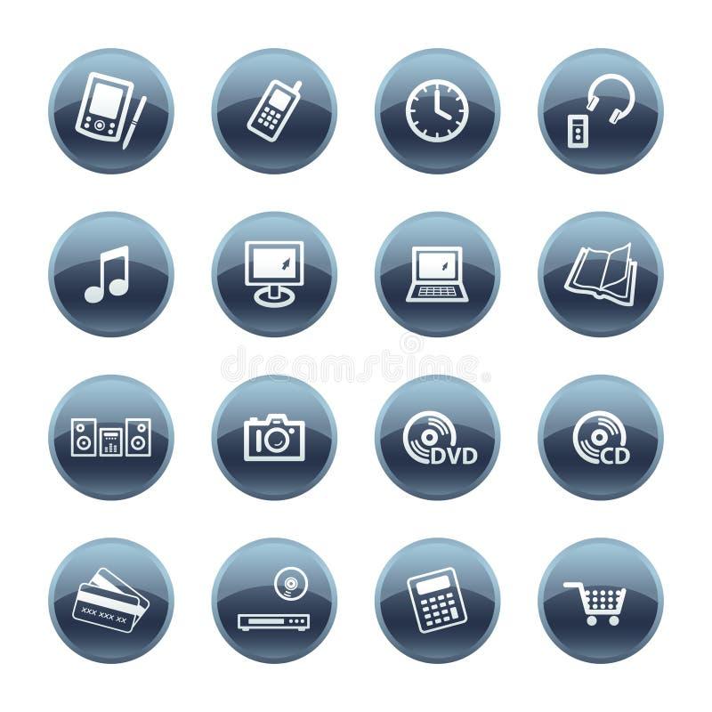 Iconos minerales de la electrónica de la gota libre illustration