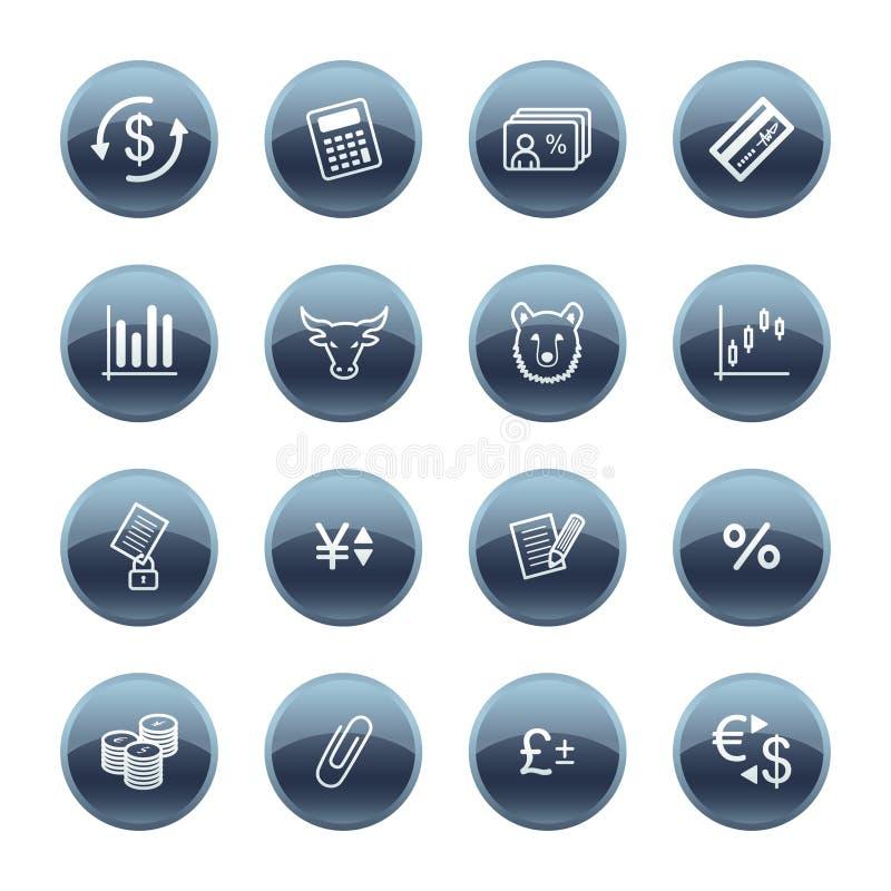 Iconos minerales de las finanzas de la gota stock de ilustración