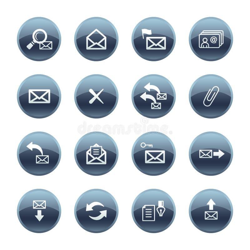 Iconos minerales del email de la gota ilustración del vector